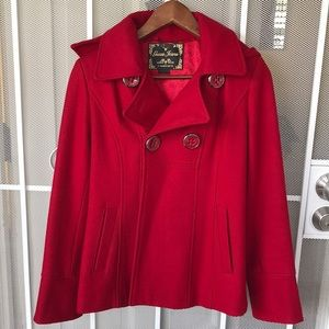 Red Guess winter coat